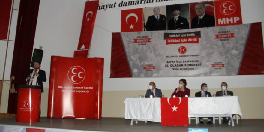 Bafra MHP 13'üncü olağan kongresi yapıldı