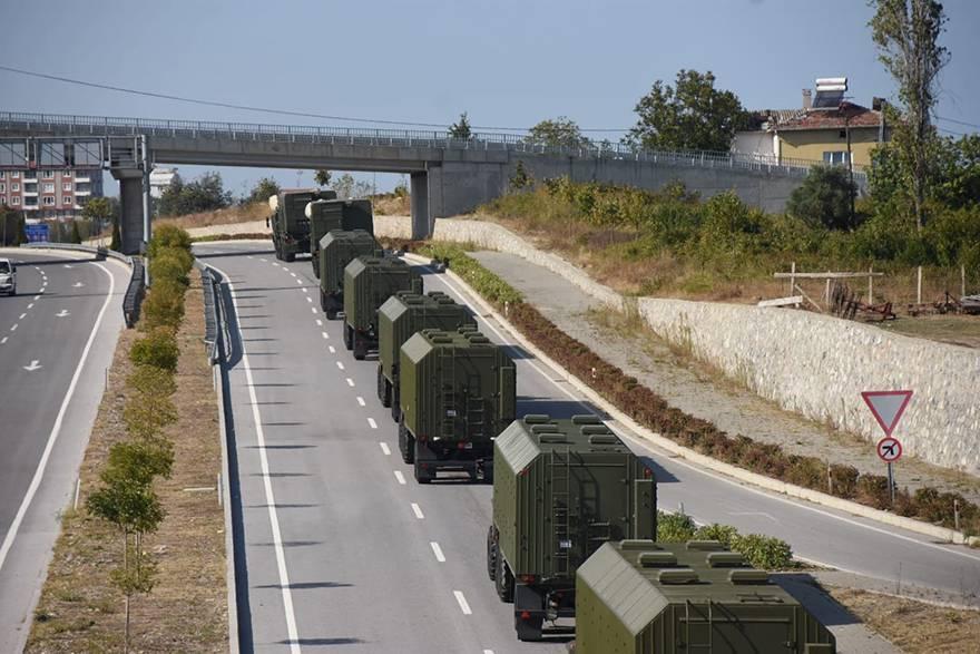 S-400'ler Bafra'dan geçti 1