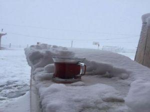 İşte Alaçam'da kar keyfi