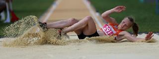 Samsun'da bayanlar uzun atlama yarışları 2
