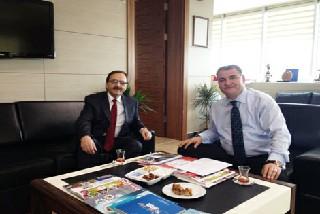 Başkan Şahin ve Müs.Yrd. Aslan Karanfil  Projeler Hakkında konuştu