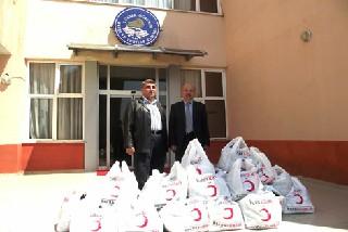 Türk Kızılayı Bafra Şubesi'nden Milli Piyango Yurduna Giysi Desteği