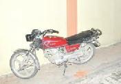 Bafrada motosiklet hırsızlığı