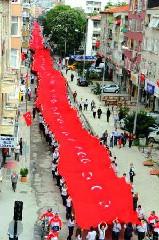 Samsun'da tarihi yürüyüş