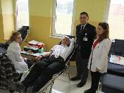 İsmail ahıskalı mesleki eğitim merkezinden kan bağışı