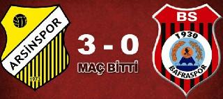 ARSİN SPOR 3-0 1930 BAFRA SPOR