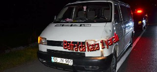 Bafra'da kaza 1 yaralı