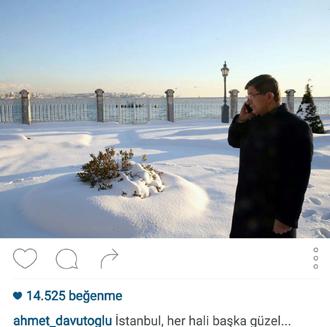 Başbakanın kar fotoları beğeni rekoru kırıyor