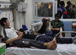 Öğrenci servisi kaza yaptı : 15 yaralı