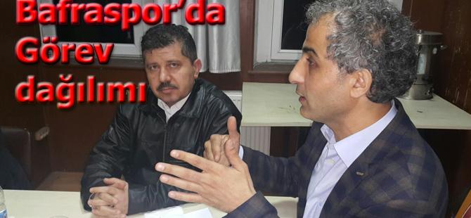 Bafraspor'da  görev dağılımı