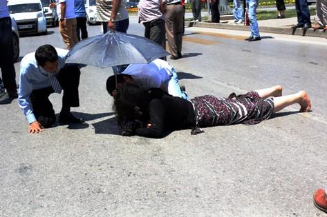 Samsun'da otomobilin Çarptığı Yaya yaralandı