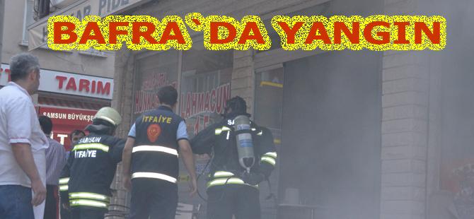 Bafra`da yangın