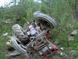 Alaçam'da Traktör Kazası 1 Ölü