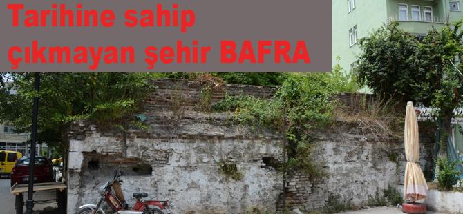 Bafra'nın simgesi tarihi hamam  ilgi bekliyor