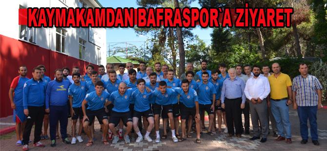 Türkoğlu`dan Bafraspor`a ziyaret