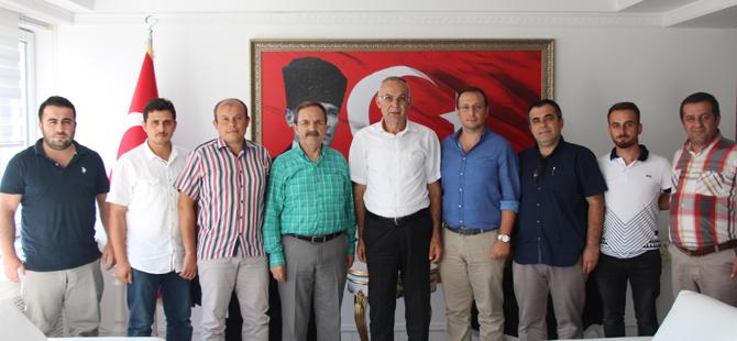 Türk Eğitim Sen'den Bafra Kaymakam Vekili Hacı İbrahim Türkoğlu'na ziyaret