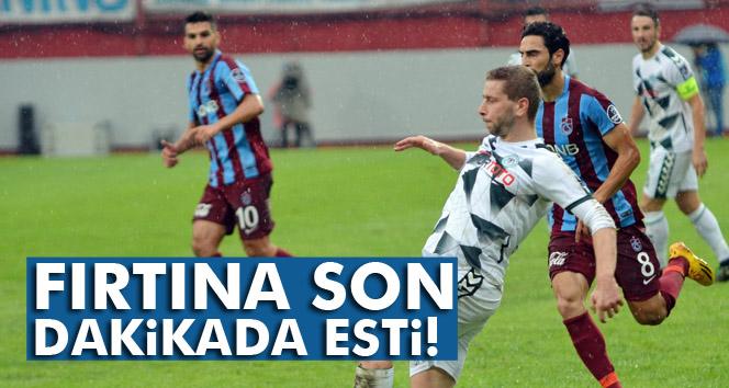 Son nefeste Trabzonspor kazandı
