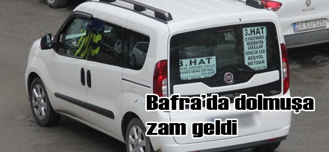 BAFRA'DA ŞEHİR İÇİ DOLMUŞA ZAM ...