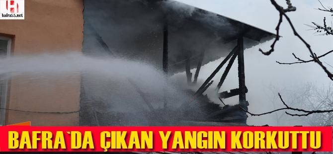 Yangın çevre binalara sıçramadan söndürüldü