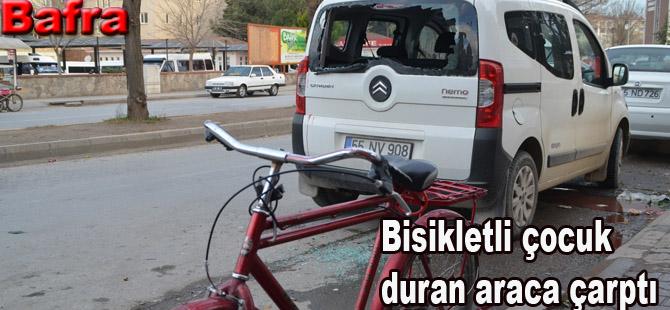 Bisiklet ile kaza yapan çocuk yaralandı