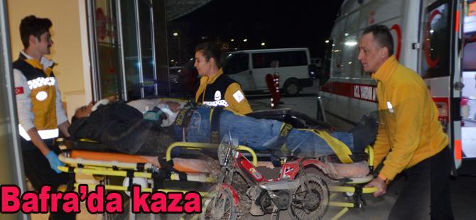 Bafra'da Mobilet kazasında 1 kişi yaralandı