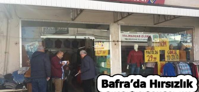 Bafra'da işyerinde Hırsılık