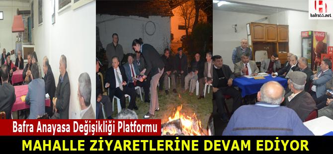 Anayasa Değişikliği Platformu üyelerinden ziyaret