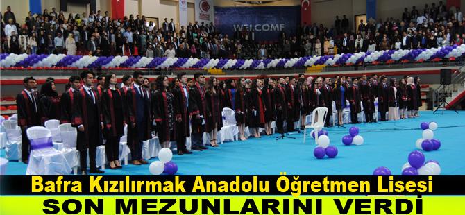 Kızılırmak Anadolu Öğretmen Lisesi son mezuniyet töreni