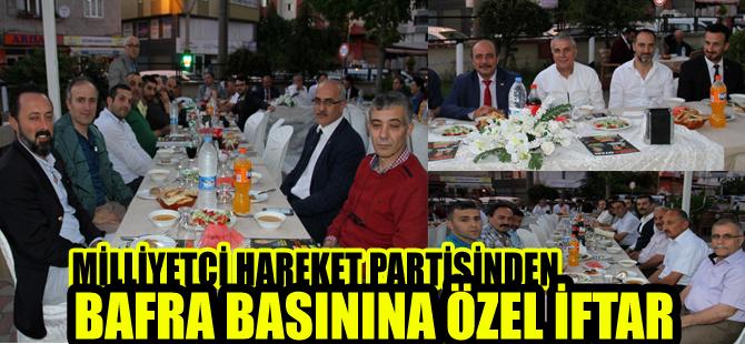 MHP`den Bafra basınına özel iftar