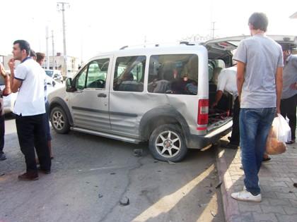 Bafrada Trafik Kazası 1 Yaralı
