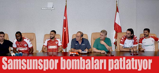 Samsunspor bombaları patlatıyor