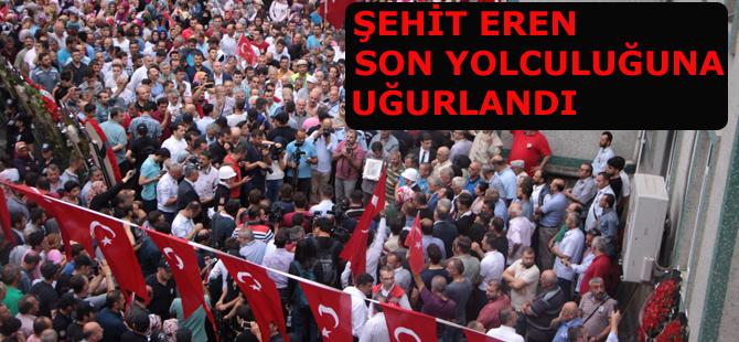 Trabzon'un şehidi son yolculuğuna uğurlandı