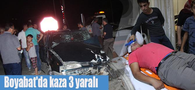 Boyabat'da kaza 3 yaralı