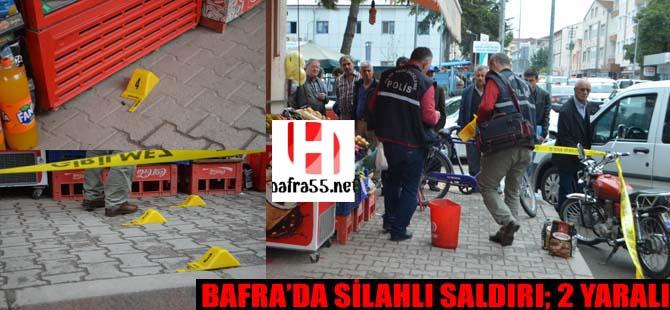 Bafra'da silahlı saldırı 2 yaralı