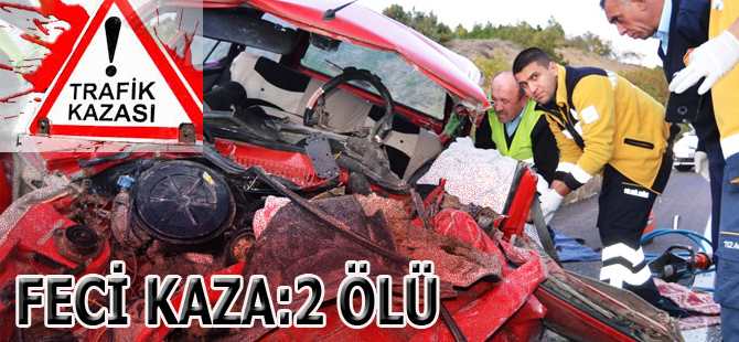 Boyabat'da feci kaza:2 Ölü
