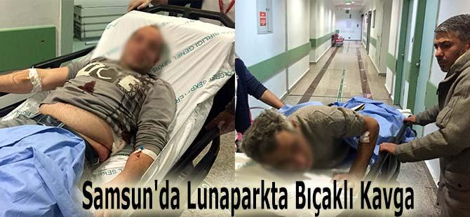 Samsun'da Lunaparkta Bıçaklı Kavga