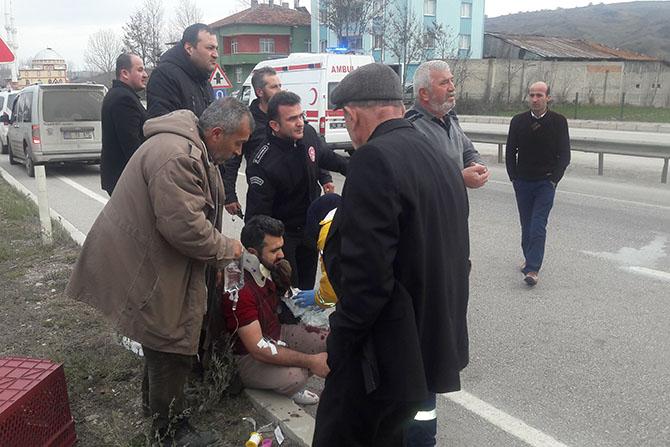 Havza'da Traktör Kazası 4 Yaralı