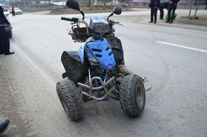 Boyabat'da ATV Kaza yaptı