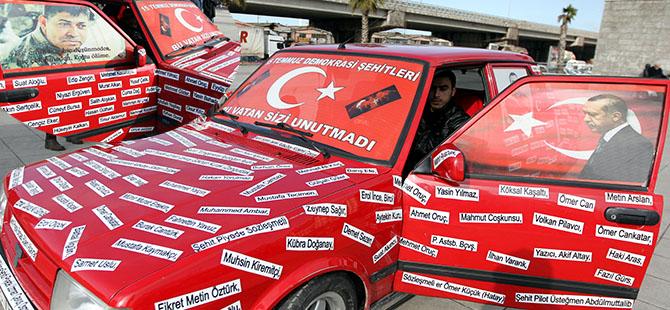 Otomobilini Şehit İsimleri İle Donattı