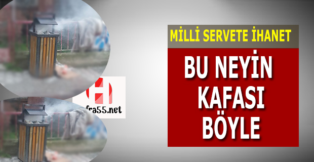 Bafra'da Çöp Kutularını Yaktılar
