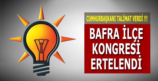 AK Parti İlçe Seçim Kongresi Ertelendi