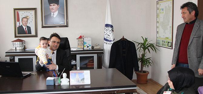 Şehit ailesinden Kaymakam'a Ziyaret
