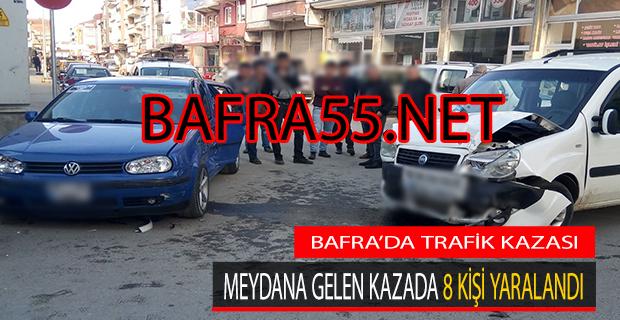 Bafra'da Trafik Kazası; 8 Yaralı