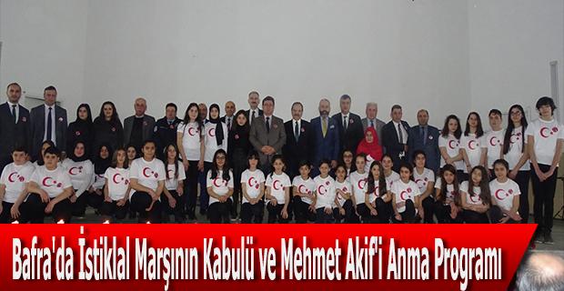 Bafra'da İstiklal Marşının Kabulü ve Mehmet Akif'i Anma Programı