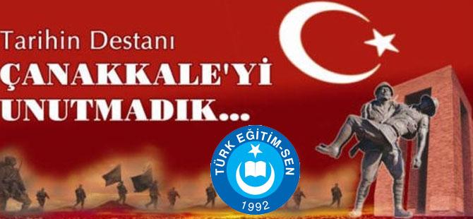 Bafra Türk Eğitim-Sen Çanakkale Zaferi Mesajı