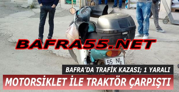 Motosiklet İle Traktör Çarpıştı