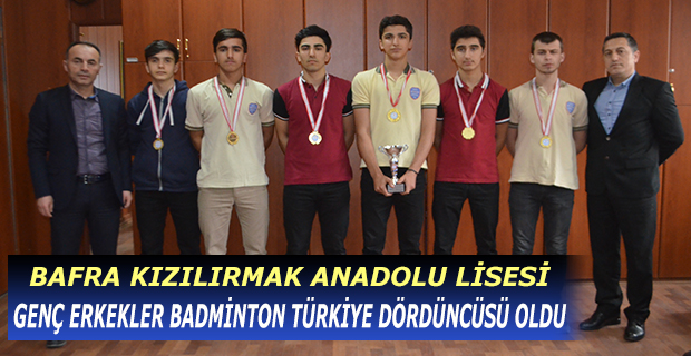 Genç Erkekler Badminton Dördüncüsü, Bafra Kızılırmak Anadolu Lisesi