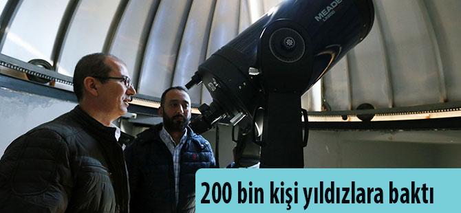 200 bin kişi yıldızlara baktı