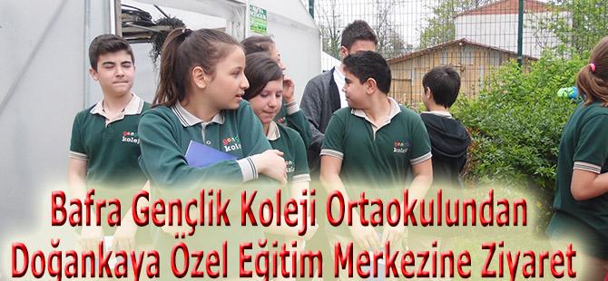 Bafra Gençlik Koleji Ortaokulundan Doğankaya Özel Eğitim Merkezine Ziyaret