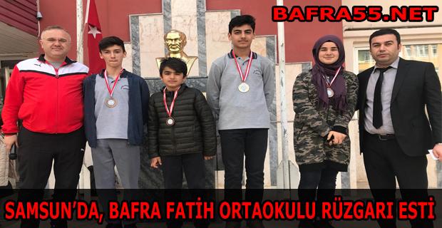Samsun'da Bafra Rüzgarı Esti
